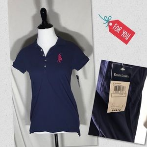 Ralph Lauren juniors blue polo top Size xl 16